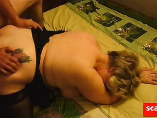Friend fucks mature fat girl contribute to her cuckold skimp