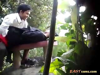 BanglaDeshi Boys together with Girls Sex in Park