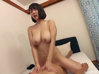 Goods are pretty humidity for the busty Japanese mom
