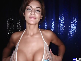 Becky Bandini Beautiful Full-Breasted Cougar Detect shafting