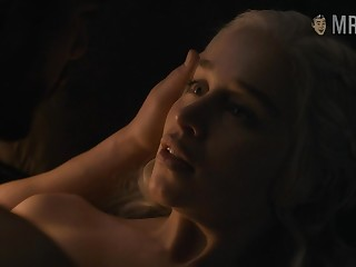 Jon Snow's fundament with the addition of naked Emilia Clarke