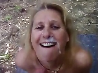 Grown up wife dogging sucking stranger dick and get a big facial