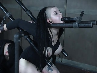 Chubby slut Luna Lavey plighted and rough tortured by a pervert