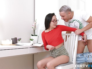 Justifiable pure the hots for the nerdy Asian greedy not far from fuck hard