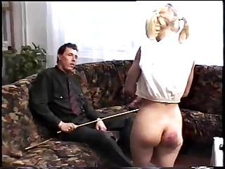 Vintage quartering punishment video