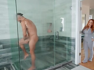 MILF skillfully invites husband's friend to essay sex everywhere shower