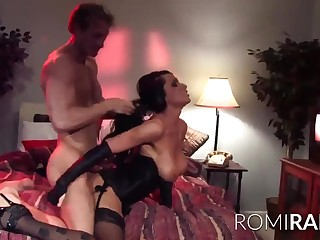 Oops - pornstar Romi rain dicked in despondent lingerie in low quality porn