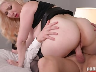 Disparaging ass licking and pussy pounding be worthwhile for hot blonde hooker Roxy Risingstar GP1398