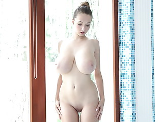 Delicious bouncy tits in dissimulate