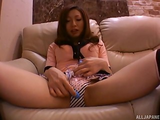 Clothed Japanese gives a proper head before fucking opposite number a whore