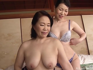 Asian lesbo models drop their clothes and lick each other
